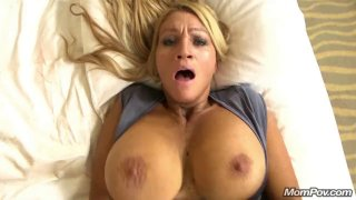Buxom MILF cougar got her twat smashed hard in POV