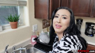 Horny MILF stepmom wants again to be fucked by a stepson