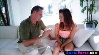 Stepdaughter needs to know her place so stepdad fucks her